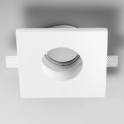 "Zaneen - Zaneen | Invisibili 11 Inch Adjustable Square LED Recessed Lighting - Made in Italy by Zaneen.The Invisibili 7 Inch Adjustable LED Recessed Lighting from Zaneen features an innovative design that the designer intended to be ""invisible"". Invisibili draws a clear dividing line between a ""before"" and ""after""; the before is represented by a traditional product - plaster, which has existed for many years in the field of architectural lighting. The after is represented through innovative LED technology and a clean, modern, re-worked design. Conceived with the same simplicity with which things are formed in nature. Features an adjustable, metal white LED spot for great functionality and versatility. Easy installation. Integral driver included.Installation Note: Suitable for installation in non-insulated ceilings and walls only.Features:"