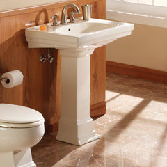 traditional bathroom vanities and sink consoles Structure Pedestal Sink by Foremost