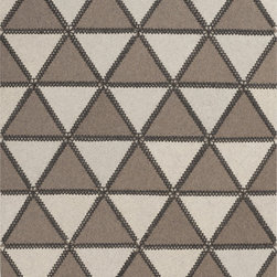 """Surya - Surya Patch PTC-4000 (Taupe, Ivory, Charcoal) 3'3"""" x 5'3"""" Rug - This Hand Crafted rug would make a great addition to any room in the house. The plush feel and durability of this rug will make it a must for your home. Free Shipping - Quick Delivery - Satisfaction Guaranteed"""