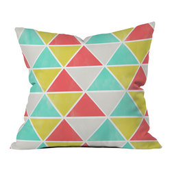 Allyson Johnson Summer Triangles Outdoor Throw Pillow - Do you hear that noise? it's your outdoor area begging for a facelift and what better way to turn up the chic than with our outdoor throw pillow collection? Made from water and mildew proof woven polyester, our indoor/outdoor throw pillow is the perfect way to add some vibrance and character to your boring outdoor furniture while giving the rain a run for its money.