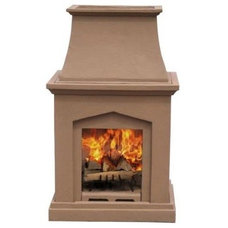 Contemporary Outdoor Fireplaces by Home Depot