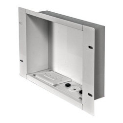 "Peerless - PEERLESS-AV IBA2AC-W In-Wall Metal Box Large with Knock Out & Power Outlet (Larg - � Holds up to 25lbs;� 15A/125V duplex receptacle power source with surge protection with NEMA 5-15R;� Low-profile design fits behind thinnest mounts & flat panel displays;� Installs between 16"" wood stud centers when positioned vertically;� Heavy gage cold-rolled steel construction;� Positions horizontally or vertically to create the best look;� Includes cable ties & grommet;� Large;� White"