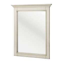 Foremost - Foremost Mirrors Klein 30 in. L x 23.5 in. W Wall Mirror in Antique White - Shop for Decor at The Home Depot. Finished in antique white the cottage styled Klein 23-1/2 in. x 30 in. poplar framed mirror will provide an attractive update for any bathroom. The mirror features decorative top molding and flat edged glass. It is a rectangular mirror and is intended to be mounted vertically. Mounting hardware is conveniently attached. Color: Antique White.