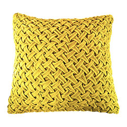 BrandWave - Velvet Rouched Square Pillow, Mustard - Brighten up any couch or bed with the ruched velvet pillow collection. Ruching originates in France, and is a pleated, fluted or gathered piece of fabric, that we have used as the design for this pillow collection. These pillows are great for layering. With both square and round pillows, don't be afraid to mix and match your shapes and colors.