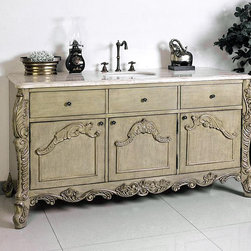 "Ornate and Antique Bathroom Vanities - Legion Furniture 60"" Bathroom Vanity W5433-11 New 2013 design"