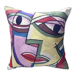 Striking Face Contemporary Pillow