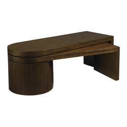 Aquarius - Aquarius Lunar Cocktail Table in Walnut Finish - Aquarius - Coffee Tables - 014211616 - About the Aquarius Collection: