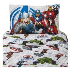 Jay Franco and Sons - Marvel Avengers Twin Bed Sheet Set 3 Pieces Earth Mighty Sheets - Features: