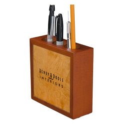Classy Rustic Dante Orange Interior Designer Pencil/Pen Holder Business Branding - Corbin Henry