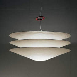 Ingo Maurer - Ingo Maurer | Floatation Suspension Light - Design by Ingo Maurer, 1980.