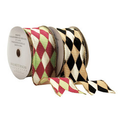 Ballard Designs - Harlequin Ribbon - Wire-lined so you can shape perfect bows. Imported.