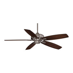 """Savoy House - The Wind Star 52"""" Ceiling Fan - This eye-catching fan has sleek details that add the finishing touch to all of today's interiors. The lustrous Brushed Pewter finish is elegant and perfectly complemented by hickory blades."""
