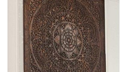 Teak Lotus Panel - VivaTerra