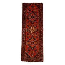 eSaleRugs - 3' 5 x 9' 8 Zanjan Persian Runner Rug - SKU: 110886395 - Hand Knotted Zanjan rug. Made of 100% Wool. 30-35 Years.