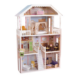 "KidKraft - Kidkraft Kids Home Indoor Pretend Play Imaginative Toy New Savannah Dollhouse - The Savannah Dollhouse is one of our most elegant dollhouses to date. Decorated like a true southern mansion, this gorgeous house is sure to provide girls with hours of fun, imaginative play. Dimension: 33.66""Lx 13.54""Wx 51.06""H"