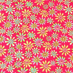 """SheetWorld - SheetWorld Fitted Crib / Toddler Sheet - Floral Bright Pink - Made in USA - This beautiful 100% cotton """"woven"""" crib / toddler sheet features a floral print on a bright pink background. Our sheets are made of the highest quality fabric that's measured at a 280 tc. That means these sheets are soft and durable. Sheets are made with deep pockets and are elasticized around the entire edge which prevents it from slipping off the mattress, thereby keeping your baby safe. These sheets are so durable that they will last all through your baby's growing years."""