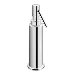 WS Bath Collections - 3.5 in. Freestanding Soap Dispenser - Contemporary design. Premium quality - avant garde. Warranty: One year. Made from solid brass. Polished chrome color. Made in Spain. 3.5 in. Dia. x 7.9 in. H (3 lbs.)Kubic Cool from Pom Dor Spain the very well known brand name for premium and highend bathroom furnishings. Unique and fine bath complements, and accessories of various designs, that provide inspirational solutions for every decor.