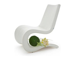 B&T Design - Flow Lounge Chair, Gazebo Eco-Leather Off White - 4008 - Flow Lounge Chair