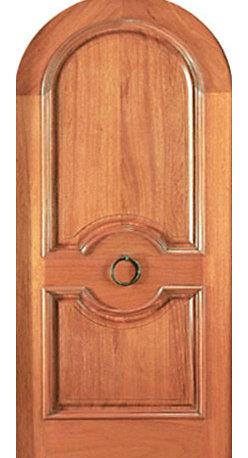 """Round Top Single Door, Hand Carved 2-Panel in Mahogany with Door Knob - SKU#Model-P-84BrandAAWDoor TypeExteriorManufacturer CollectionCarved & MansionDoor ModelDoor MaterialWoodWoodgrainMahoganyVeneerPrice2530Door Size Options36"""" x Height"""" (3'-0"""" x 7'-0"""")  $0Core TypeSolidDoor StyleRound TopDoor Lite StyleDoor Panel Style2 Panel , Arch Top Panel , Raised Panel , Raised MouldingHome Style MatchingMediterranean , Victorian , Old World , Elizabethan , Pueblo , SuburbanDoor ConstructionTrue Stile and RailPrehanging OptionsPrehungPrehung ConfigurationSingle DoorDoor Thickness (Inches)1.75Glass Thickness (Inches)Glass TypeGlass CamingGlass FeaturesGlass StyleGlass TextureGlass ObscurityDoor FeaturesDoor ApprovalsDoor FinishesDoor AccessoriesDoor KnobWeight (lbs)340Crating Size25"""" (w)x 108"""" (l)x 52"""" (h)Lead TimeSlab Doors: 7 daysPrehung:14 daysPrefinished, PreHung:21 daysWarranty1 Year Limited Manufacturer WarrantyHere you can download warranty PDF document."""