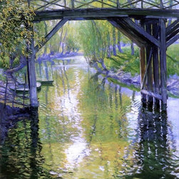 """Art MegaMart - Guy Orlando Rose The Old Bridge, France - 20"""" x 25"""" Premium Canvas Print - 20"""" x 25"""" Guy Orlando Rose The Old Bridge, France premium canvas print reproduced to meet museum quality standards. Our museum quality canvas prints are produced using high-precision print technology for a more accurate reproduction printed on high quality canvas with fade-resistant, archival inks. Our progressive business model allows us to offer works of art to you at the best wholesale pricing, significantly less than art gallery prices, affordable to all. We present a comprehensive collection of exceptional canvas art reproductions by Guy Orlando Rose."""