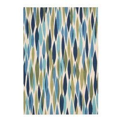 Nourison - Contemporary Waverly Sun & Shade 10'x13' Rectangle Seaglass Area Rug - The Waverly Sun & Shade area rug Collection offers an affordable assortment of Contemporary stylings. Waverly Sun & Shade features a blend of natural Seaglass color. Machine Made of 100% Polyester the Waverly Sun & Shade Collection is an intriguing compliment to any decor.