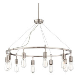 Minka Lavery - Minka Lavery 4139 10 Light 1 Tier Chandelier from the Downtown Edison Collection - Ten Light Single Tier Chandelier from the Downtown Edison CollectionFeatures: