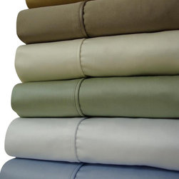 "Bed In A Bag - 21"" Deep Pocket - 1500TC Solid Egyptian Cotton Bed Sheet Sets - Come Experience The Finest Egyptian Cotton Sheets! We are one of the only manufactures who use a brand new, advanced weaving technology, which increases the sheets durability, extends the life, and creates a softness like no other!"