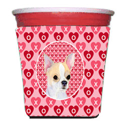 Caroline's Treasures - Chihuahua Red Solo Cup Hugger - Fits red solo cup or large Dunkin Donuts / Starbucks ice coffee cup. Collapsible Foam. (16 oz. to 22 oz. Red solo cup) Toby Keith made the cups more popular with his song. We make them nicer to carry around. The top of the cup is still exposed to add your name with a marker too. Permanently dyed and fade resistant design. Great to keep track of your beverage and add a bit of flair to a gathering. Match with one of the insulated coolers or coasters for a nice gift pack. Wash the hugger in your dishwasher or clothes washer. Design will not come off.