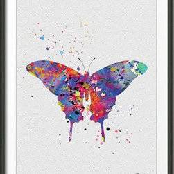 KidsPlayHome - Playroom Kids Wall Art Signed Print - Magic Butterfly - Playroom Decor Fine Art Giclee Print - Watercolor