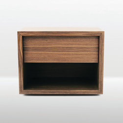 Frame nightstand - walnut