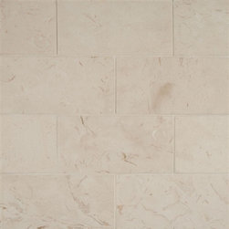 Corinthian White Limestone Tile 3x6 - Glazed Porcelain 2 Hexagon Mosaics- Black- Sold Per Sheet (1sf/ sheet)