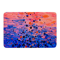 "KESS InHouse - Ebi Emporium ""What Goes Up"" Blue Pink Memory Foam Bath Mat (24"" x 36"") - These super absorbent bath mats will add comfort and style to your bathroom. These memory foam mats will feel like you are in a spa every time you step out of the shower. Available in two sizes, 17"" x 24"" and 24"" x 36"", with a .5"" thickness and non skid backing, these will fit every style of bathroom. Add comfort like never before in front of your vanity, sink, bathtub, shower or even laundry room. Machine wash cold, gentle cycle, tumble dry low or lay flat to dry. Printed on single side."