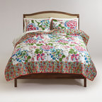 Lena Quilt - The larger and smaller floral prints mixed together on this quilt are perfect. The colors are great too.