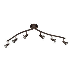 Access Lighting - Access Lighting 52226 Mirage 6 Light Semi-Flush Ceiling Spot Light with Articula - Product Features: