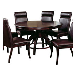 Hillsdale - Hillsdale Nottingham Round Pedestal Dining Table - Hillsdale - Dining Tables - 4077DTB - Urban and sophisticated the tapered clean lines of the Nottingham dining collection create an effect that is fresh modern and timeless. Constructed of hardwoods and climate controlled wood composites this collection is finished in a dark walnut.