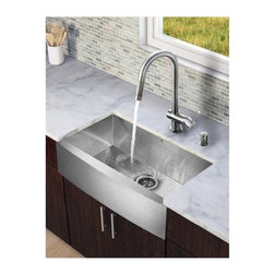 Vigo Industries - Steel Kitchen Sink and Faucet Set - Enhance the look of your kitchen with a VIGO All in one kitchen set.