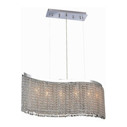 "PWG Lighting - Warrane 6-Light 9""D Crystal Chandelier 1102D46C-CL-SA - Shimmering and glamorous rows of crystals make these Crystal Chandeliers eye-catching designs. Each combination in the Warrane Collection is an exceptional work of art providing an enchanting centerpiece to any room."