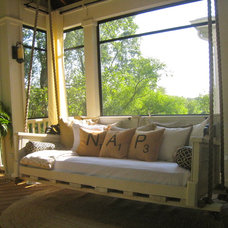 Eclectic Porch by Your Favorite Room By Cathy Zaeske