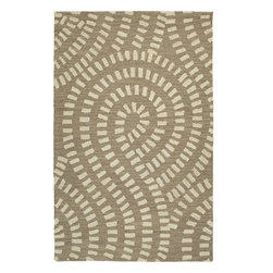 """Kaleen - Kaleen Carriage Traffic (Nutmeg) 7'9"""" Round Rug - Carriage is a warm and casual rug as comfort and as much a part of the family as that favorite sweater. As all Kaleen products Carriage is only made of the finest materials. Hand Tufted Loop construction made in India of 100% Premium Virgin Wool."""