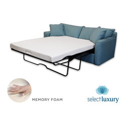 Select Luxury - Select Luxury New Life 4.5-inch Twin-size Memory Foam Sofa Bed Sleeper Mattress - Searching for a new twin-size mattress for your sleep sofa bed? This hypoallergenic memory foam mattress allows for a comfortable nights rest while still retaining its original shape through repeated use. A removable cover keeps it clean.