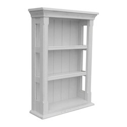 EuroLux Home - New Wall Cabinet Gray Painted Hardwood Open - Product Details