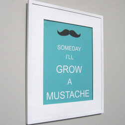 Children's Art Print Poster, Mustache by Pumpkin & Butterfly - This print makes me laugh — what's better to look at all the time than something that makes you laugh? It's perfect for my dudes!
