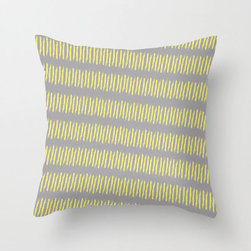 Treads Pillow Cover in Yellow - With a charming pattern that evokes tire treads in sand, we think you'll have no problem finding a home for this one! This simple, but textural pillow cover would look great in a brightly colored chair or as the background for a floral cushion.