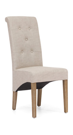 ZUO ERA - Hayes Valley Chair Beige (set of 2) - When something looks this good, you'll want to buy two. The pair of dining chairs — swathed in beige or charcoal linen — features tufted backs for ultimate comfort. They're a little modern and oh so chic.