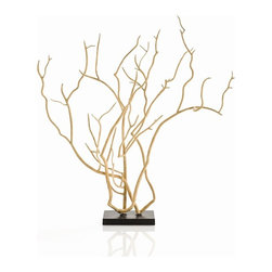 Arteriors - Dunston Sculpture - You won't feel as if you have gone out on a limb by placing this graceful and elegant sculpture anywhere in your home or office. Its stark beauty supports your decor choices, whether that's traditional, rustic or contemporary.