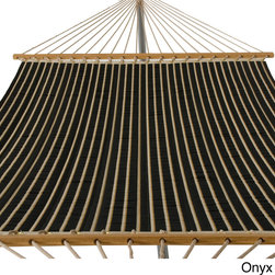 Phat Tommy - Phat Tommy Outdoor Oasis Sunbrella Quilted Hammock - Kick back and relax with this outdoor quilted hammock by Phat Tommy. It is made with Sunbrella, a high-performance outdoor fabric that is made to last. This weather-resistant hammock is supported with unfinished solid white oak and polyester rope.