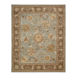 """Nourison - Nourison 2000 2234 9'9"""" x 13'9"""" Blue Area Rug 63895 - Animated flower shapes floating on a French blue ground breathe life and vitality into this stunning, modern interpretation of ancient Persia design. Soft tones of fawn and palest beige add inviting warmth. A lovely focal point for a special room."""