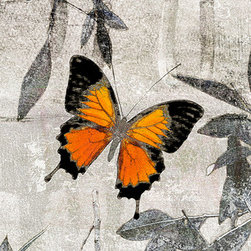 Papillon.I #6068 (Original) by Sia - The butterfly invites us to slip into a space of calm
