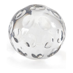 """Go Home - Go Home Moon Ball - Jazzing up your area with this Tuscan villa moon ball can be a great idea! This ball adds a stylish and resplendent look to your decor. It has grooves notched for a completely different look. Its shining appearance makes your area's ambience illuminated. It will make your guests to say """"WOW"""" whenever they will look at it. This is best suited for the empty corners of your living or bedroom area. Aesthetically designed this elegant piece of art will surely complement your interiors with its rich design. Reflect your style statement and class with this angelic piece of art."""