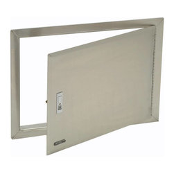 Bull - Access Door with Lock and Frame, Stainless Steel - Commercial quality polished 304 stainless steel construction for durability and lasting appearance. 304 stainless steel has excellent resistance to corrosion and heat.